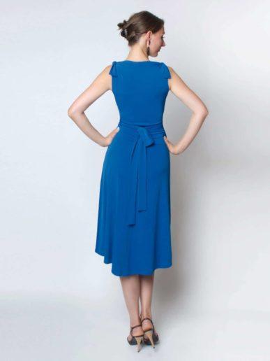 Anabella Wickelkleid aermellos blau (3)