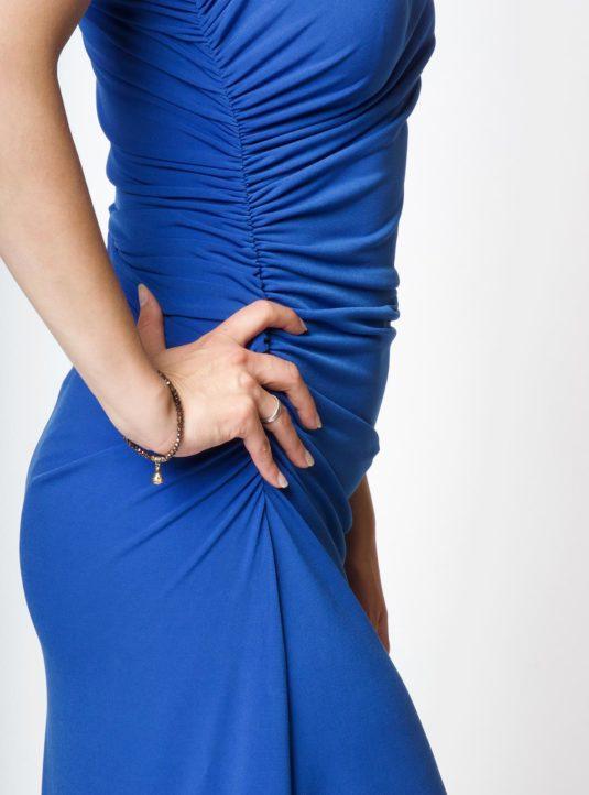Carolina asymmetrisches Kleid blau (4)