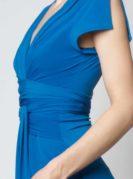 Lucila Wickelkleid Kurzarm blau (4)