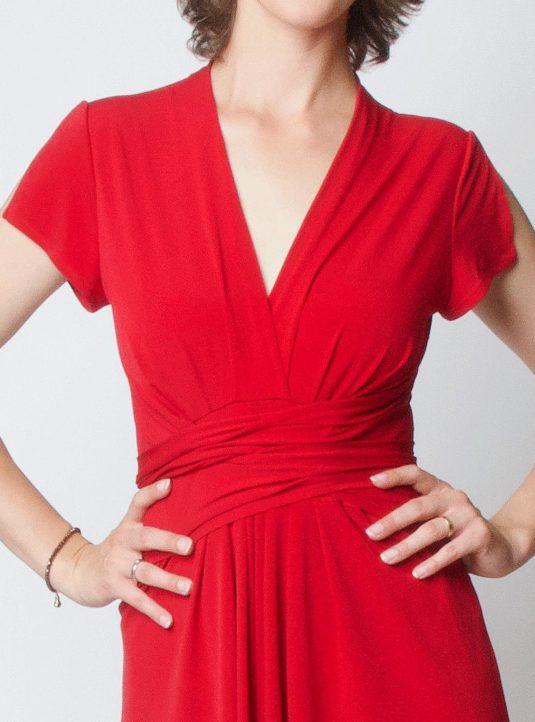 Lucila Wickelkleid Kurzarm rot (4)