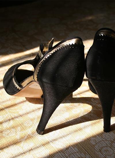 Tango Leike schwarze Schuhe - Tanzmode Tangomode