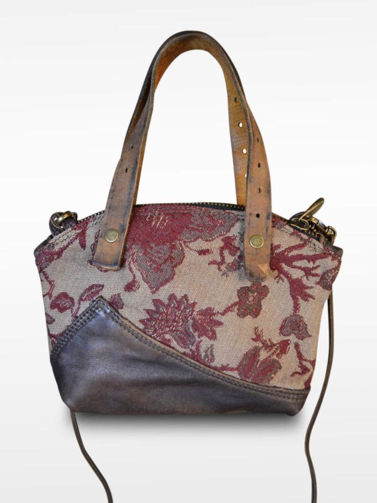 Halbmondförmige Handtasche Ulula Damascato