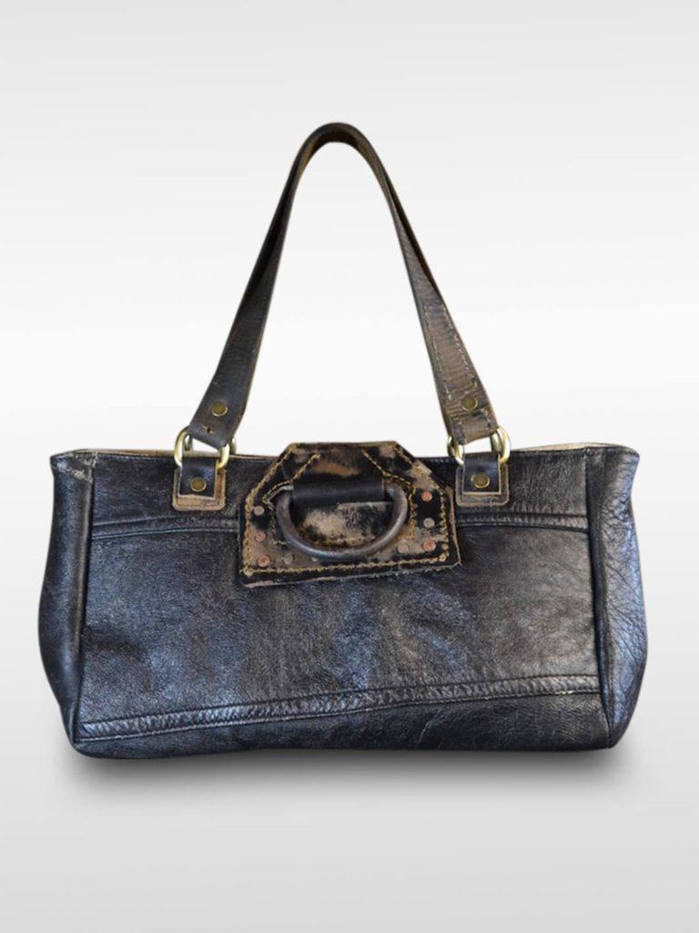 Lederhandtasche schwarz Mirella Gancio