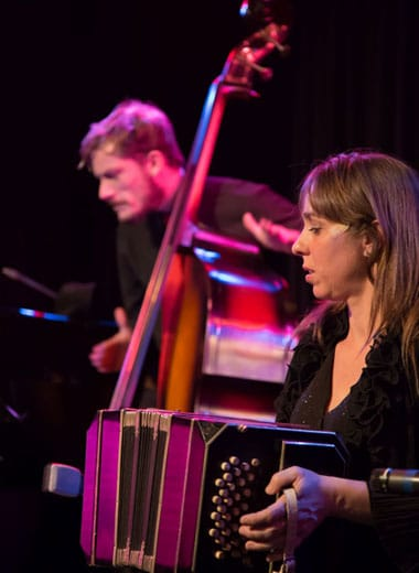 Tango Musiker Bandoneon Bass