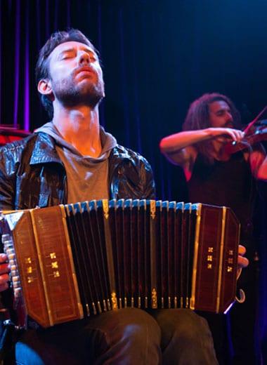 Tango Musiker Bandoneon Geige