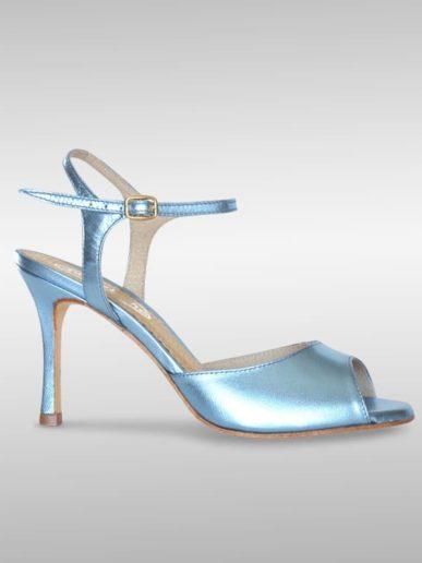 Aurora Tangoschuh Leder Metallic Blau