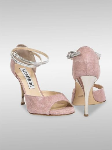 Isabel Tango Schuh In Altrosa Mit Silbermetallic Leder (2)