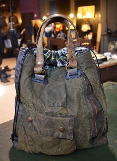 Silent People Vintage Tasche Mit Schottenkaro