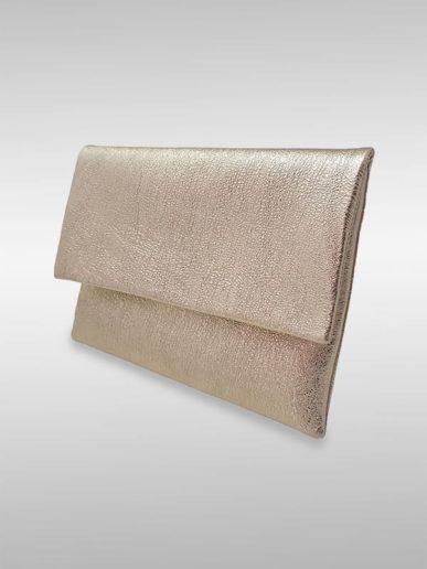Romina Clutch Abendtasche Silber Lurex Mit Gold