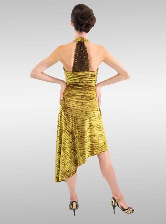 LINDISSIMA Kleid Neckholder Honey