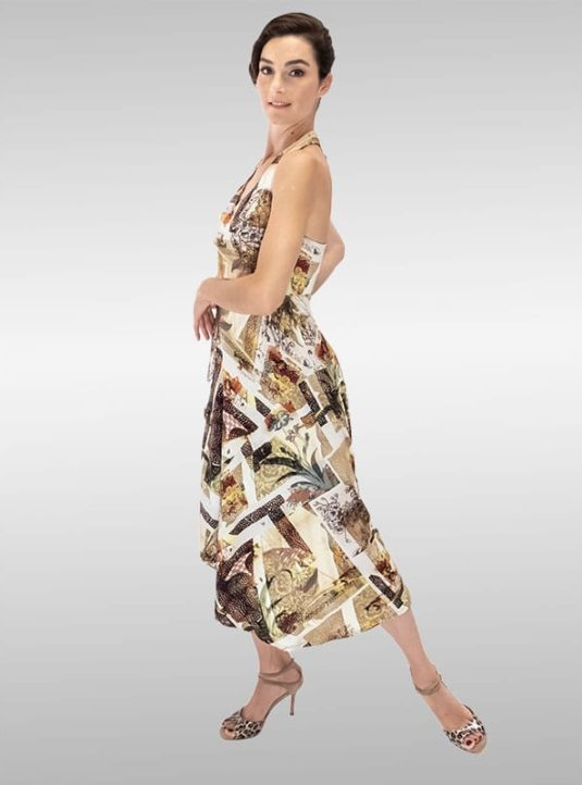 LINDISSIMA Kleid Neckholder Pastell Gelb