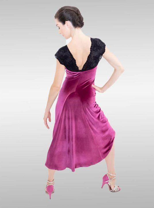 Samtkleid ROSITA Hot Pink