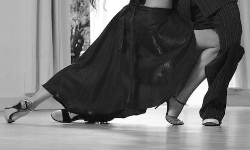Tanzrock Tango Salsa In Schwarz