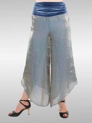 Trapeze Hose Silberblau