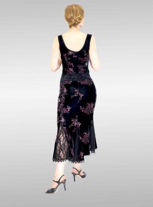 Asymmetrischer Tulip Rock Black Roses