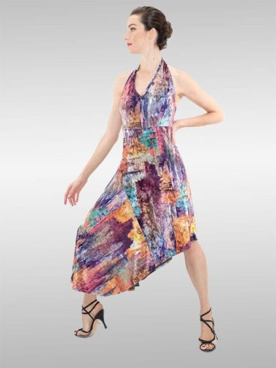 LINDISSIMA Kleid Neckholder Rainbow