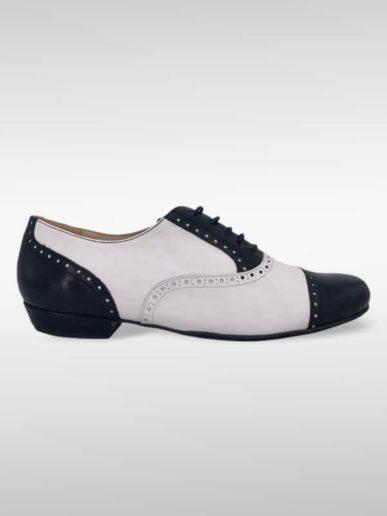 Arrabal Schwarz Weiß Brogue Stil
