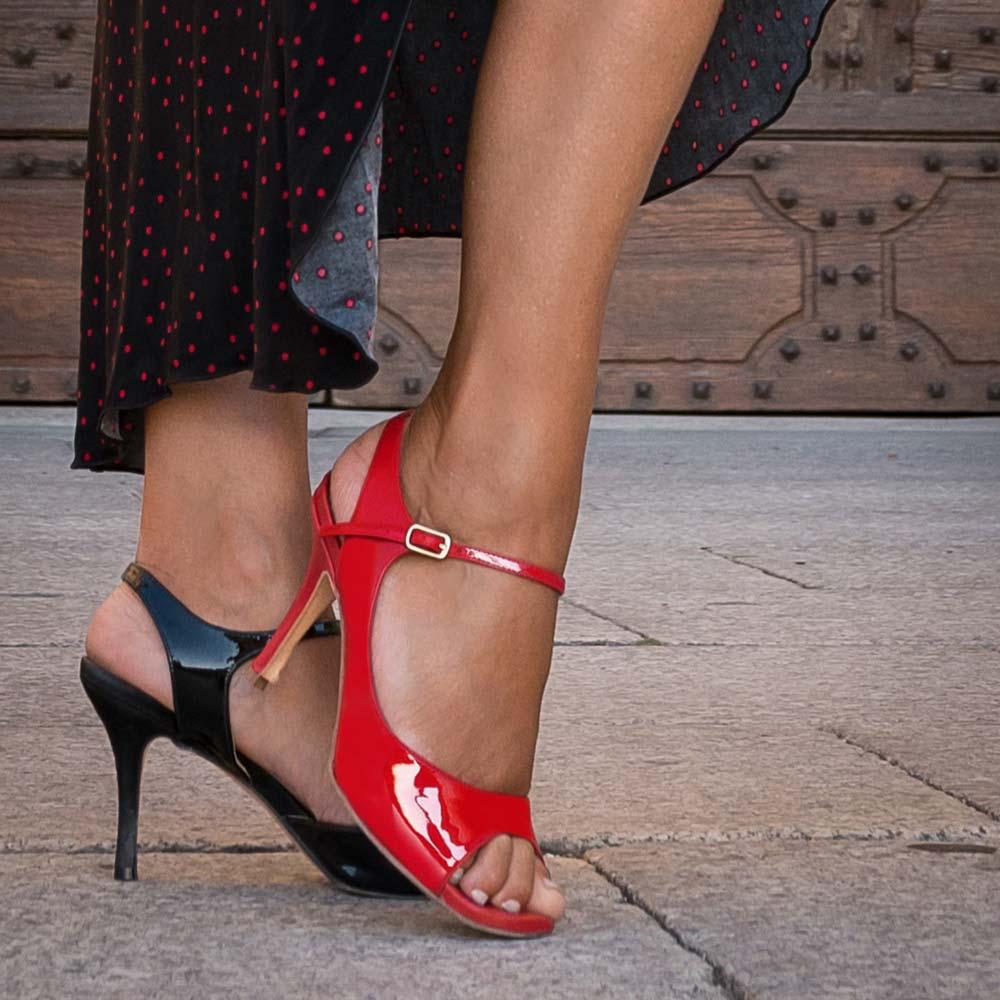 Tanzschuhe Kategorie Rot Schwarz B