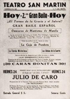 Anzeige Teatro San Martin