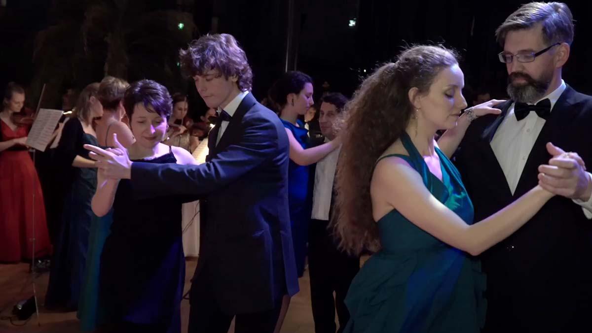 Tangotanz Studenten Auf Dem Ball Der TU Wien, Hofburg