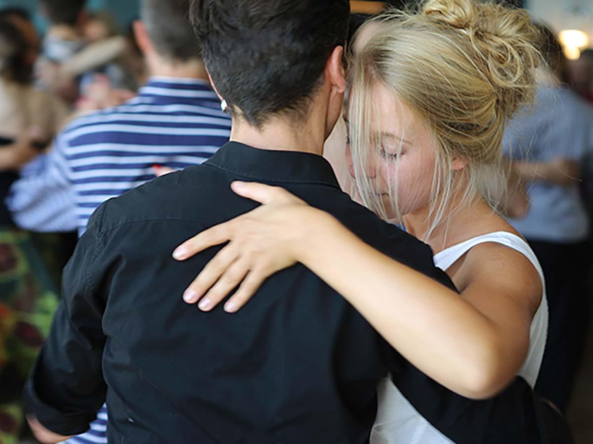 Tangotanz Lernen Junges Paar
