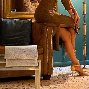 Designer bags women golden