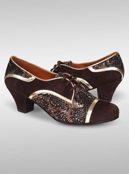 Fernanda Tango Sneaker In Braun Mit Gold 2
