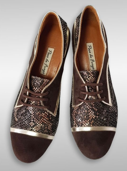 Fernanda Tango Sneaker in Braun mit Gold