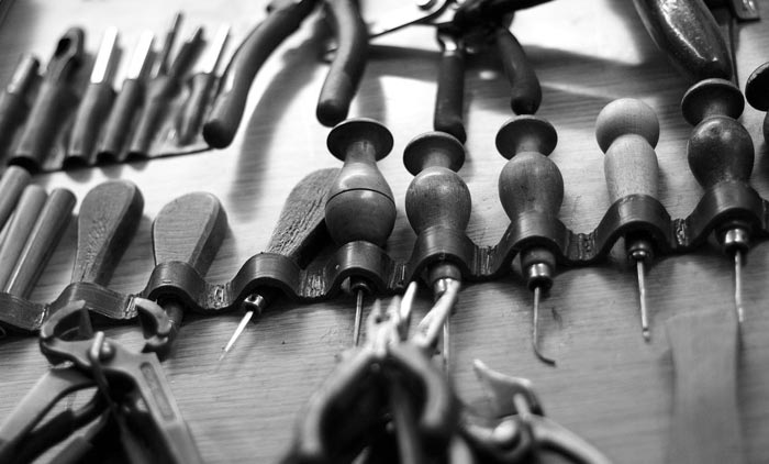 Schuhmacher Werkzeuge für Tanzschuhe