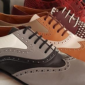 Men's dance shoes selection