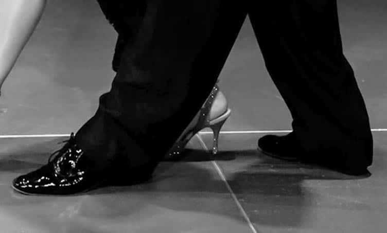 Tanzschuhe Herren in Lack Verarbeitung