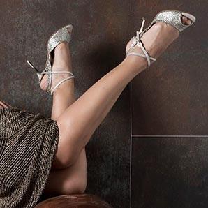 Alagalomi Modedesigner Platin Schuhe